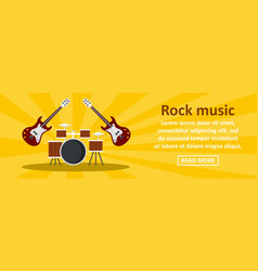 rock music banner horizontal concept vector image