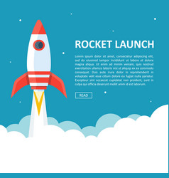 Rocket launch copyspace vector