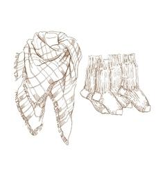 Sketch of warm clothes vector