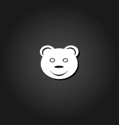 smiling teddy bear icon flat vector image