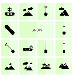 Snow icons vector