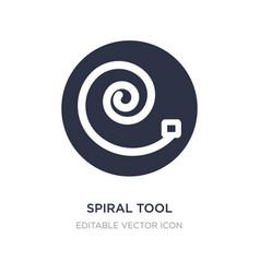 Spiral tool icon on white background simple vector