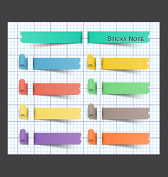 sticky note on paper vector image