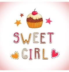 Sweet girl vector image