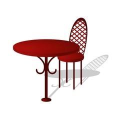 Table and chair vector