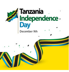 tanzania independence day template design vector image
