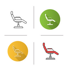 Tattoo chair icon vector
