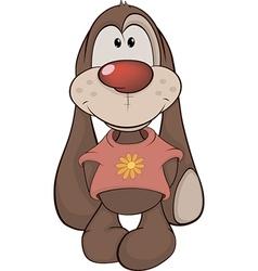 The stuffed toy rabbit vector