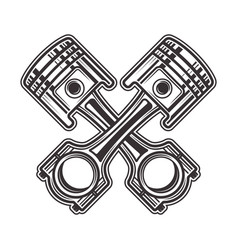 two crossed pistons vector image