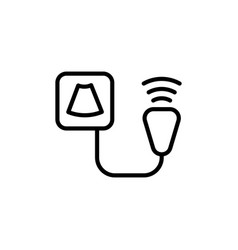 Ultrasound device icon on white background vector
