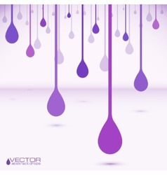 Violet flat water drops vector image