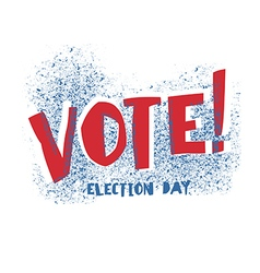 Vote typography Election day logo Isolated on vector image