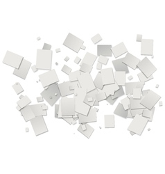 white rectangles background vector image