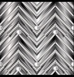 zigzag geometric greek key meander 3d vector image