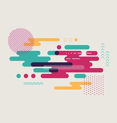 Abstract geometric flat design background vector image