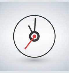 clock icon flat design vector image vector image