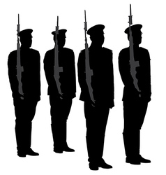 Honor Guard Silhouette vector image