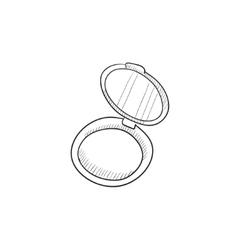 Powder box sketch icon vector image vector image