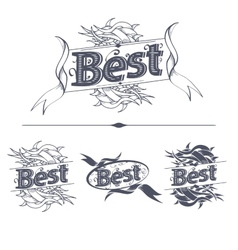 Best label with ribbons vector image