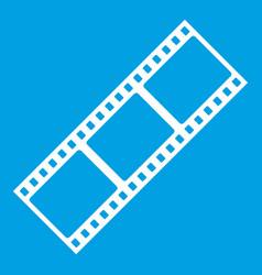 film strip icon white vector image