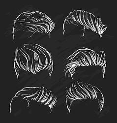 hipster man hair style Hand drawn haircut vector image vector image