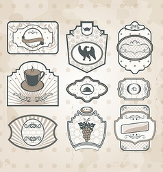 Set of vintage ornate labels vector image vector image
