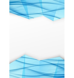 Swoosh wave geometrical border blue brochurejpg vector image