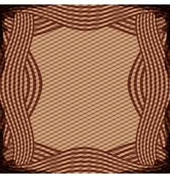 Border with striped lines in brown color vector