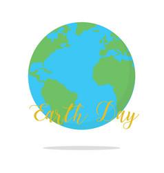 flat earth day card earth vector image vector image