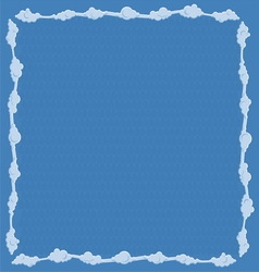 Frame consists of clouds vector image vector image