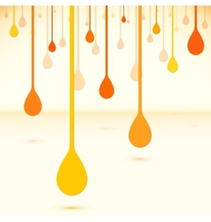 Orange drops in flat design style vector image vector image