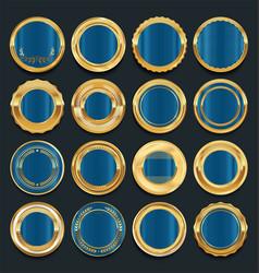 luxury golden design elements collection 3 vector image