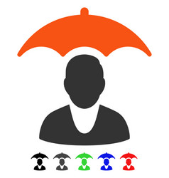 Patient safety umbrella flat icon vector