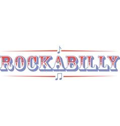 Rockabilly vector image vector image
