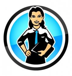 saleswoman vector image