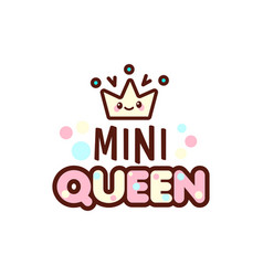 the of crown and mini queen vector image vector image