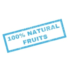 100 Percent Natural Fruits Rubber Stamp vector