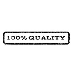 100 percent quality watermark stamp vector image