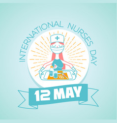 12 may international nurses day vector