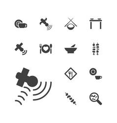 13 dish icons vector