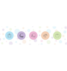 5 scales icons vector