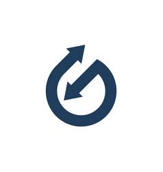 abstract arrow connected logo vector image