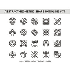 Abstract geometric shape monoline 77 vector