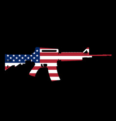 Assault rifle and flag vector