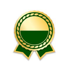 Award ribbon gold vector