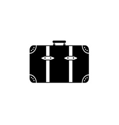 baggage icon black on white vector image