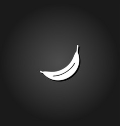 banana icon flat vector image