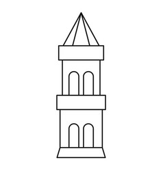 Battle tower guarding the fortress icon vector