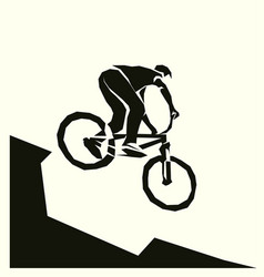 Bicycle mtb racer extreme vector
