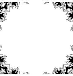 black and white ormament vector image